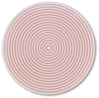 Concentric Circles Pink Glass Table Saver