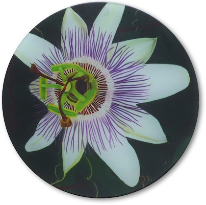 Passion Flower Glass Table Saver